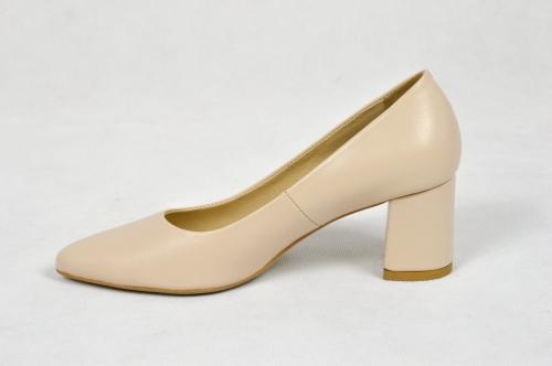 MargoShoes beżowe wiosenne czółenka szpilki nude pudrowe
